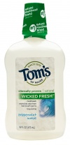 Tom's of Maine Long Lasting Wicked Fresh Mouthwash, Peppermint Wave