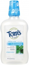 Tom's of Maine Fluoride Free Cleansing Mouthwash, Peppermint Baking Soda